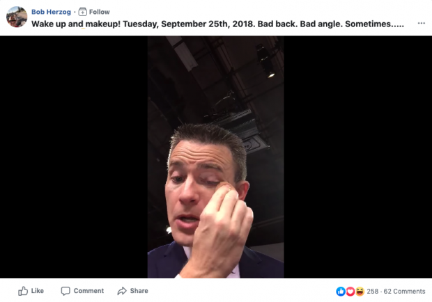 Bob Herzog behind-the-scenes Facebook Live