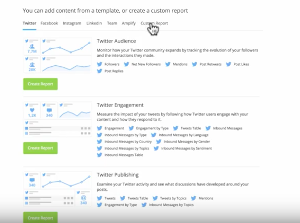 Creating a Twitter analytics report in Hootsuite
