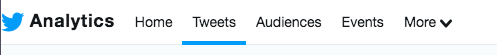 Twitter analytics menu