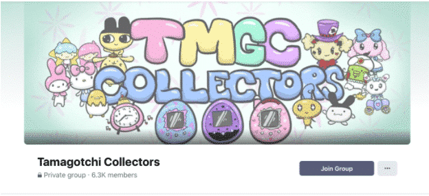 Header image for Tamagotchi Collectors Facebook group