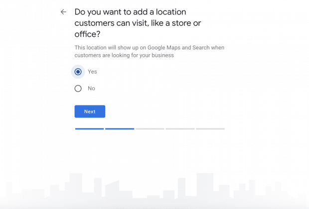 add location to Google My Business profile