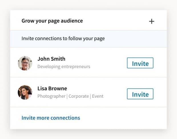 Invite connections prompt from LinkedIn