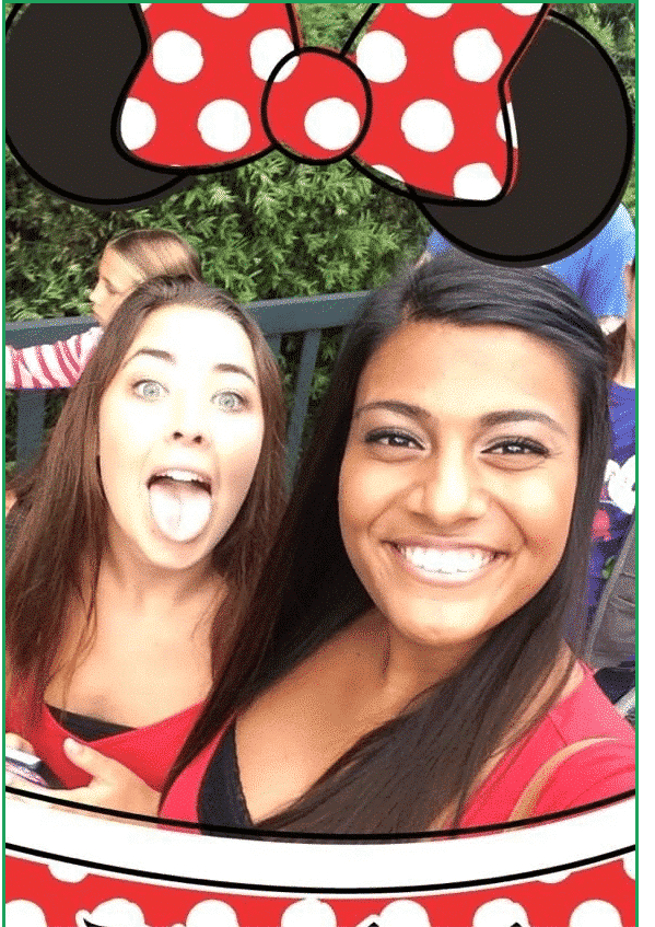 Snapchat ad filter by Disneyland