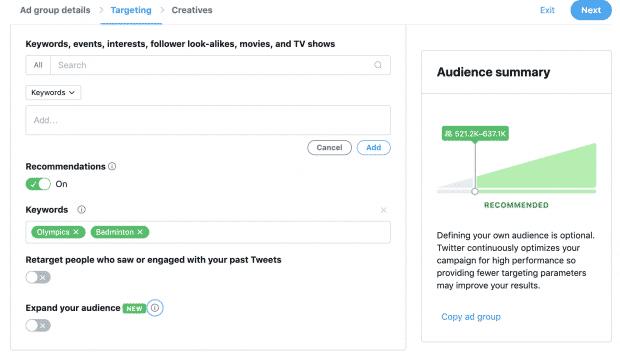 twitter的广告广告里有两个
