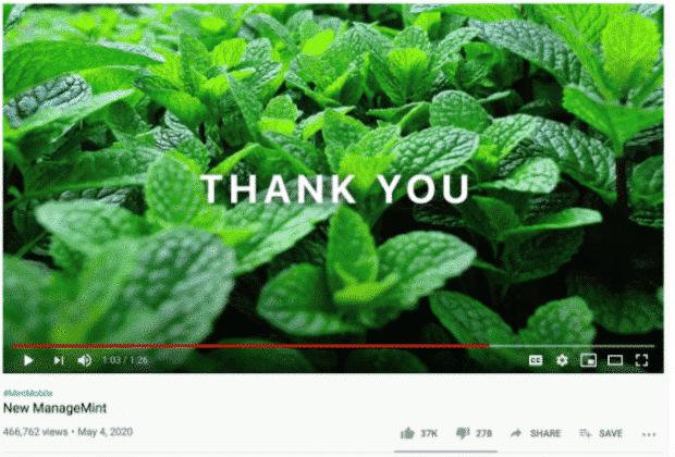 Annuncio YouTube per cellulari Mint