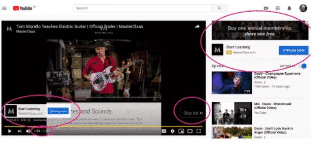 MasterClass YouTube ad