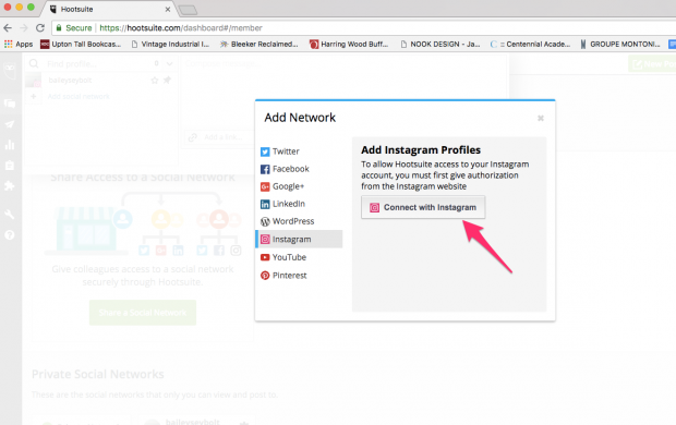 How to add Instagram to Hootsuite