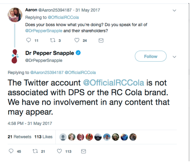 Dr Pepper tweet