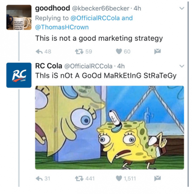 RC cola tweet