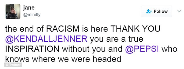 Kendall Jenner Pepsi tweet