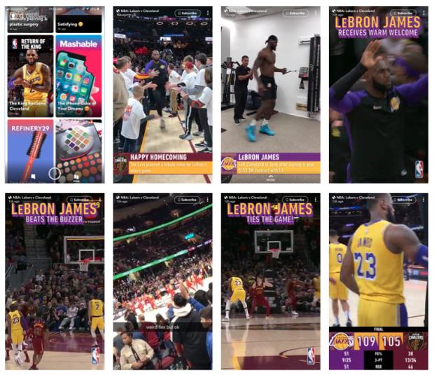 NBA on Snapchat