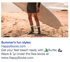facebook ads Happy Socks