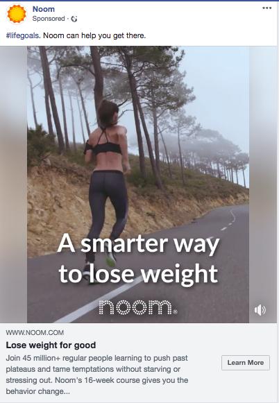 facebook ads Noom