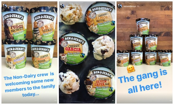 Ben and Jerry's Instagram Story