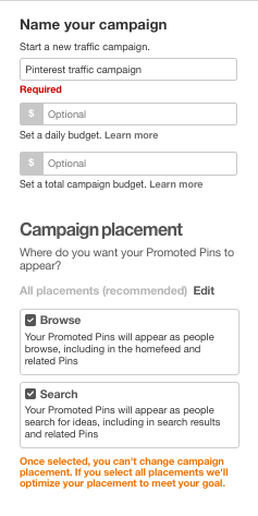how to use Pinteret ads